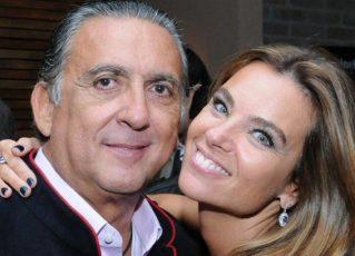 Galvão Bueno e sua mulher, Desirée. Foto: Reprodução de Internet