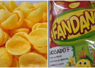 Salgadinho Fandangos. Foto: Reprodução de Internet
