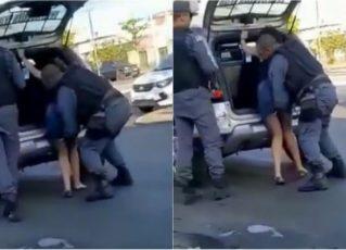 Policial toca em partes íntimas de mulher durante abordagem. Foto: Reprodução de Internet