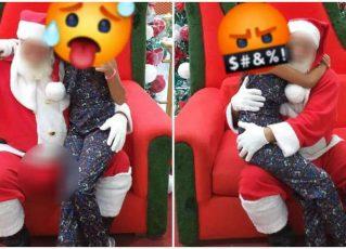 Mãe denuncia Papai Noel excitado em shopping. Foto: Reprodução de Internet