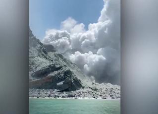 Vulcão na Nova Zelândia. Foto: Reprodução