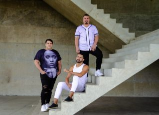 Luciano Santos, Anderson Oliveira e Michel Marssola. Foto: Max Beltrão