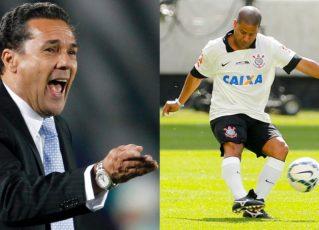 Luxemburgo e Marcelinho Carioca. Foto: Reprodução de Internet