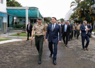 Jair Bolsonaro em inauguração de colégio militar em SP. Foto: Carolina Antunes/PR