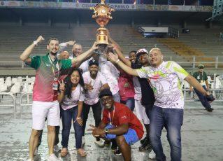 Morro da Casa Verde celebra título do Grupo de Acesso 2. Foto: Fausto Império