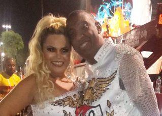 Ito Melodia com sua mulher, Maria do Carmo Coelho. Foto: Reprodução/Facebook