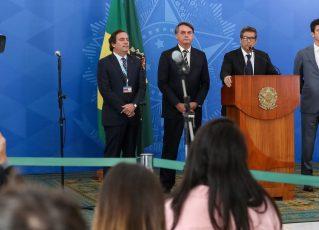 Coletiva de imprensa com Jair Bolsonaro. Foto: Marcos Correa/Agência Brasil
