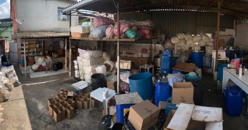 Fábrica clandestina em Mesquita. Foto: Divulgação