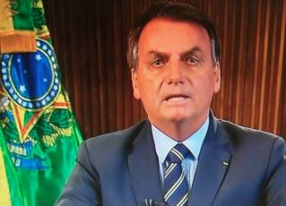 Jair Bolsonaro durante pronunciamento na TV. Foto: Reprodução