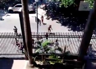 Tentativa de assalto no Centro do Rio. Foto: Reprodução