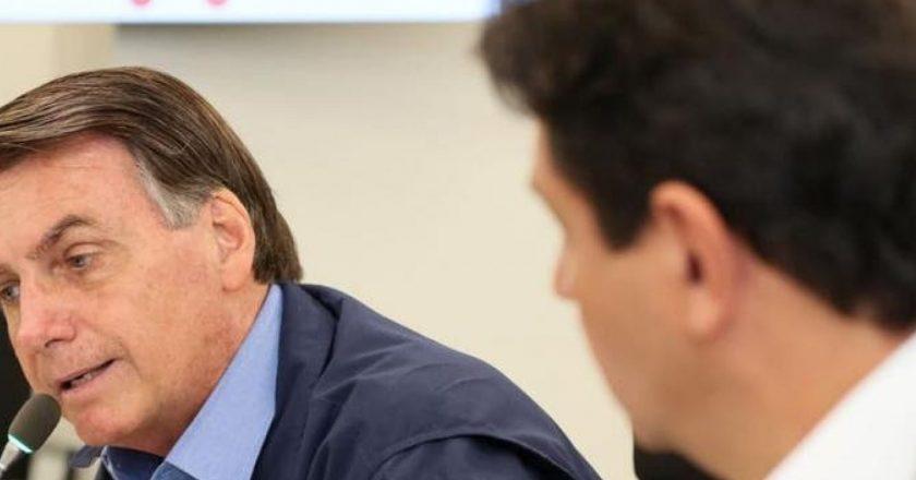 Jair Bolsonaro e Luiz Henrique Mandetta. Foto: Isac Nóbrega/PR