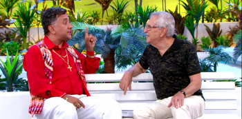 Mauricio Manfrini, o Paulinho Gogó e Carlos Alberto de Nóbrega. Foto: Reprodução de TV