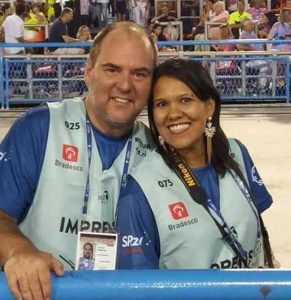 Cláudio Francioni e Juliana Dias. Foto: Acervo Pessoal