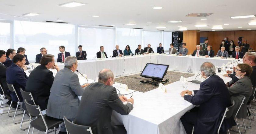 Reunião com presidente Jair Bolsonaro e ministros. Foto: Marcos Corrêa/PR