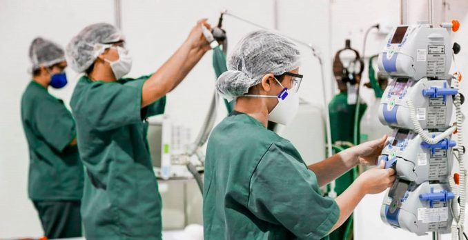 Hospital de Campanha do Pará para combate ao novo coronavírus. Foto: Divulgação