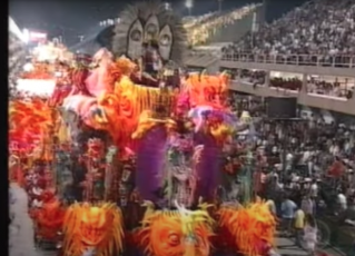 Desfile da Unidos do Viradouro - 2000. Foto: Reprodução