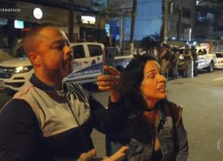 Mulher flagrada agredindo verbalmente fiscal em reportagem do Fantástico é demitida. Foto: Reprodução de Internet