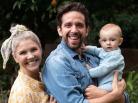 Nick Cordero, com Amanda Kloots e o filho do casal. Foto: Reprodução/Instagram