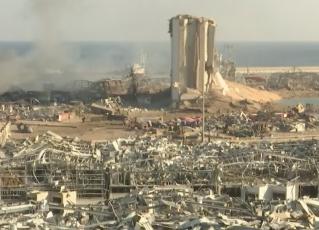 Explosão no Líbano deixou mais de 100 mortos. Foto: Reprodução de TV