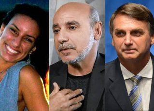 Nathalia Queiroz, Fabrício Queiroz e Jair Bolsonaro. Foto: Antônio Cruz/Agência Brasil/Reprodução de Internet