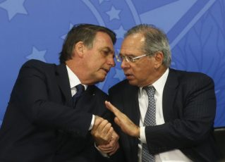 Jair Bolsonaro e Paulo Guedes. Foto: Antônio Cruz/Agência Brasil