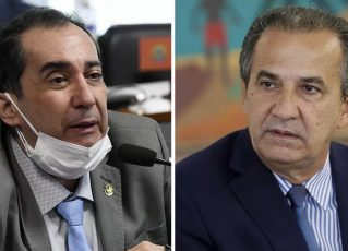 Jorge Kajuru e Silas Malafaia. Foto: Edilson Rodrigues/Agência Senado e Isac Nóbrega/PR