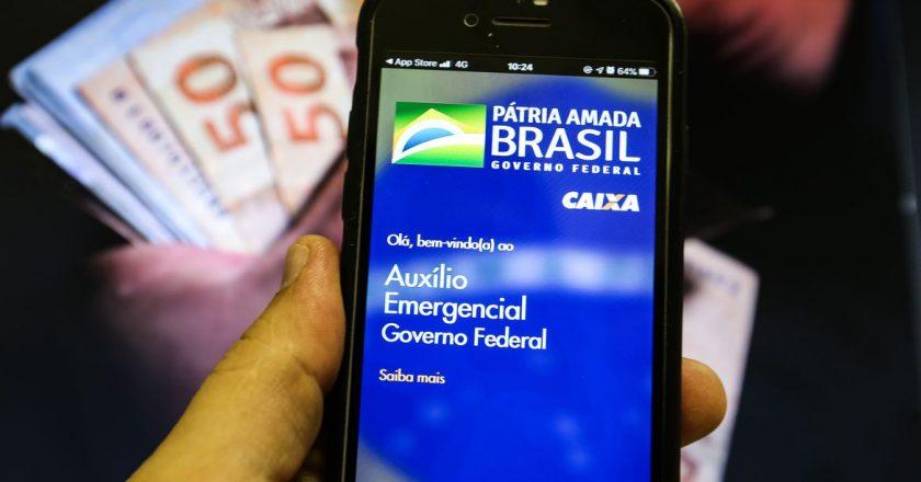 Aplicativo do Auxílio Emergencial. Foto: Marcello Casal Jr/Agência Brasil