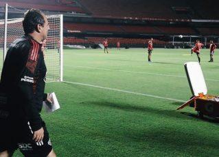 Rogério Ceni em treino do São Paulo. Foto: Rubens Chiri/São Paulo/Divulgação